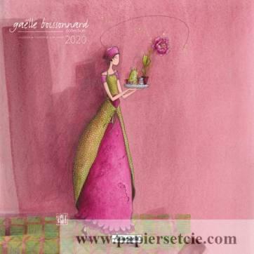 Calendrier 2020 30 x 30 Gaëlle Boissonnard La fleur rose