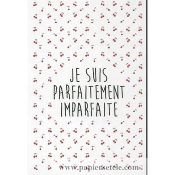 """Carte Claire Hennen """"Je suis parfaitement imparfaite"""""""