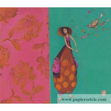 Carte simple Gaelle Boissonnard  14 x 15,5 Le chapeau chinois