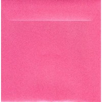 Enveloppe carrée fuchsia mat