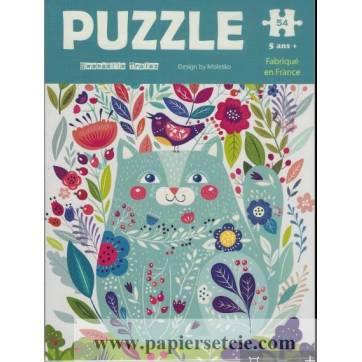 Carte Puzzle Gwenaëlle Trolez le Chat bleu