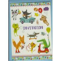 Invitations Animaux de Gwenaëlle Trolez Pack de 6