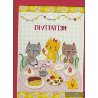 Invitations Chats de Gwenaëlle Trolez Pack de 6