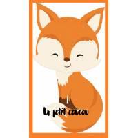 Carte artisanale simple Petit Renard souriant un petit coucou