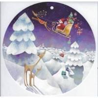 """Carte Aurelie Blanz """"Le Père Noël dans le ciel"""""""