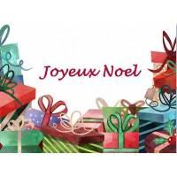 Carte artisanale Joyeux Noel Les Cadeaux