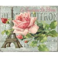 """Carte artisanale Vintage Paris """"La Boutique des Fleurs"""""""