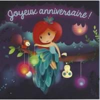 Carte Elen Lescoat Joyeux Anniversaire Petite Fée et Lucioles