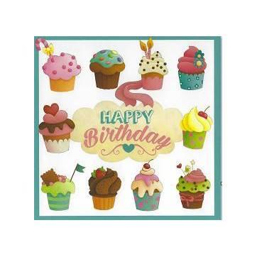 Carte Elen Lescoat Happy Birthday Les Cupcakes