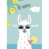 "Carte ""Be Happy"" le Lama"