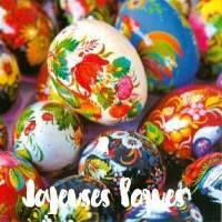 """Carte de Pâques """"Joyeuses Pâques"""" Oeufs Ukrainiens"""