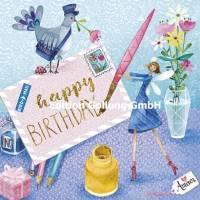 Carte Mila Marquis Happy Birthday la Fée et la lettre