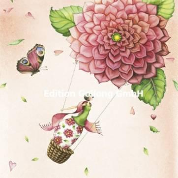 Carte Nina Chen La Montgolfière en Fleurs