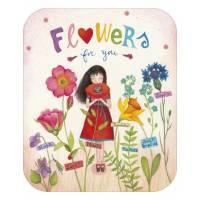 "Carte format ""Ecran"" Mila "" Flowers for You"""