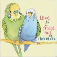 """Carte reproduction d'aquarelle """"Love Birds"""""""