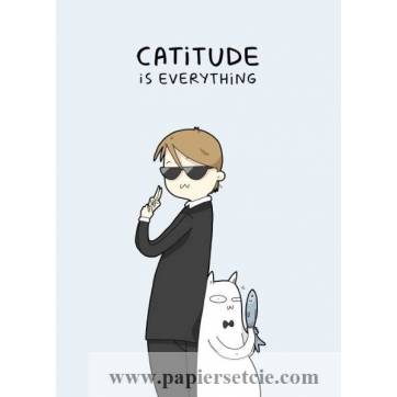 "Carte Chat ""Catitude is everything"""