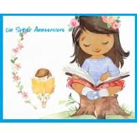 Carte Anniversaire enfants Bon Anniversaire fillette brune