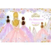 """Carte Anniversaire aquarelle """"Bon Anniversaire Princesse"""""""