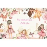 """Carte Anniversaire aquarelle """"Bon Anniversaire Petite Fée"""""""