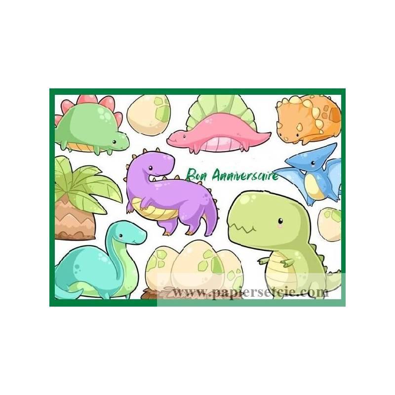 Carte Anniversaire Enfants Aquarelle Bebes Dinosaures