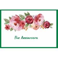 Carte Anniversaire aquarelle Bon Anniversaire Fleurs roses Zoé
