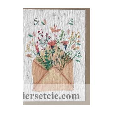 Carte à planter courrier fleuri, graines de Fleurs des champs