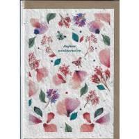 Carte Anniversaire à planter fleurs aquarelle, graines de Fleurs des champs