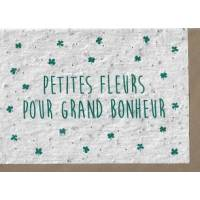 """Carte à planter """"Grand Bonheur"""", graines de Fleurs des champs"""