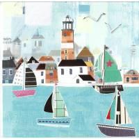 Carte 3 D Pop Up Le Port et les Maisons colorées