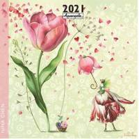 Calendrier 2021 30 x 30 Nina Chen les Tulipes
