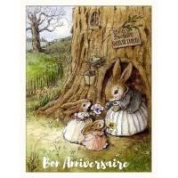 Carte Anniversaire Beatrix Potter Famille Lapins