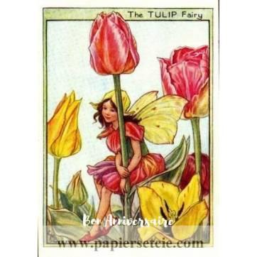Carte Anniversaire Fées des Fleurs Tulipes