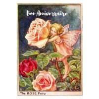 Carte Anniversaire Fées des Fleurs Roses