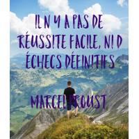 """Carte citation Bonheur:"""" Il n'y a pas de réussite facile, ni d'échec définitifs."""" Marcel Proust"""