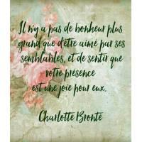 """Carte citation Bonheur:"""" Il n'y a pas de bonheur plus grand que d'être aimé par ses semblables"""""""