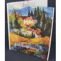 Carte Anniversaire double parfumée lavande, Hameau,Cyprès et Lavandes