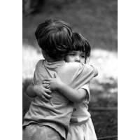 """Carte Enfants Noir et Blanc """"Gros Bisous"""""""