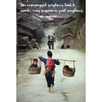"""Carte citation Bonheur: """"Une maman peut remplacer tout le monde..."""""""