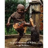 """Carte citation Bonheur: """"Le secret du bonheur est de faire ce que tu aimes.."""""""