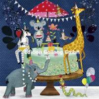 Carte Anniversaire Mila Marquis Gateau, Girafe, Elephant