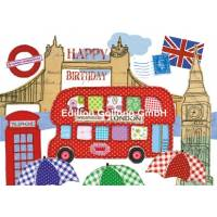 "Carte Anniversaire Carola Pabst Happy Birthday ""London"""