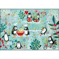 Carte calendrier de l'Avent Mila Marquis Les Pingouins