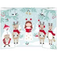 Carte Joyeux Noël et Nouvelle Année 3 D La Chorale