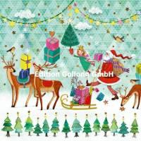 Carte Nouvel an Mila Marquis Père Noël et Traîneau