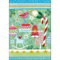Carte double Joyeux Noël ou Nouvel an Décorations de Noël