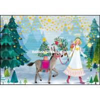 Carte dble Joyeux Noël ou Nouvel an Mila Marquis Ange et Ane
