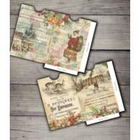 Enveloppes cadeau vintage Noël paquet de 2 Père de Noël et Cerf