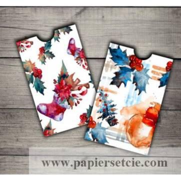 Enveloppes cadeau Noël paquet de 2 Bottes et Boules de Noël