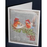 Carte double parfumée Joyeux Noel, épices de Noel et orange, Rossignols