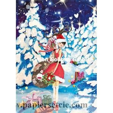Carte Joyeux Noël Sabina Comizzi Mère Noël